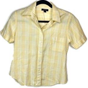 Burberry Button Down Shirt Plaid Authentic Luxury